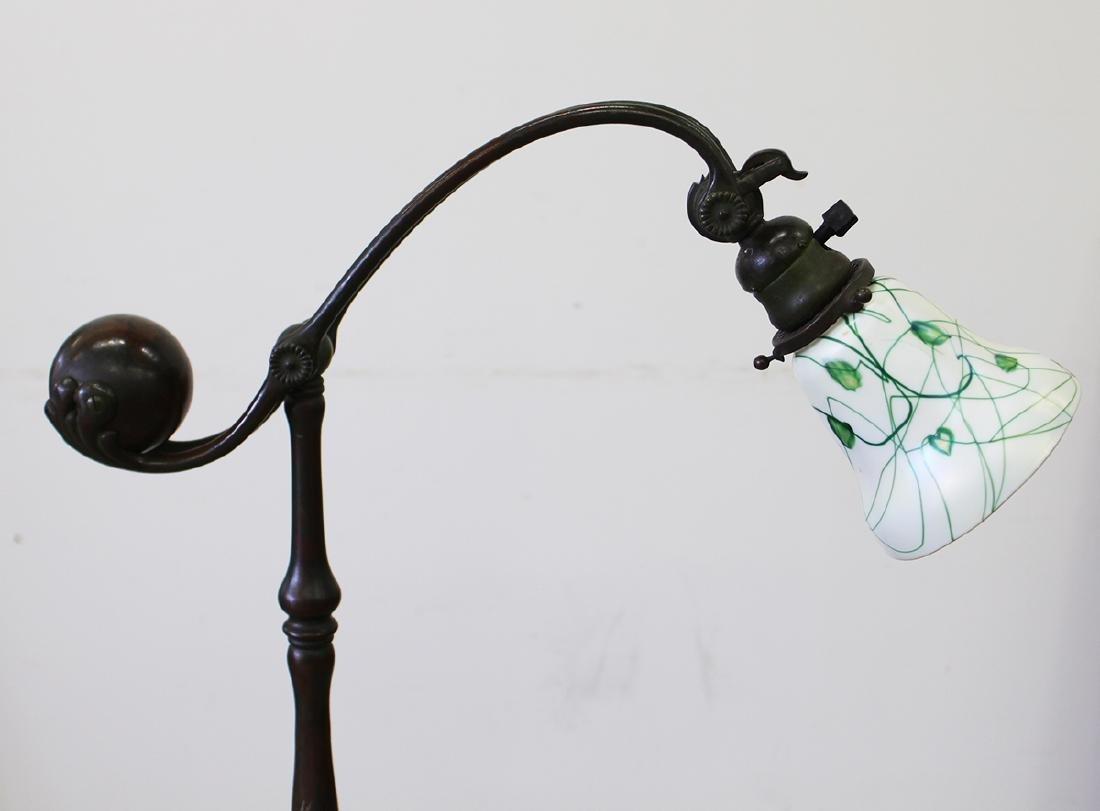TIFFANY STUDIOS COUNTERBALANCE BRONZE FLOOR LAMP - 2
