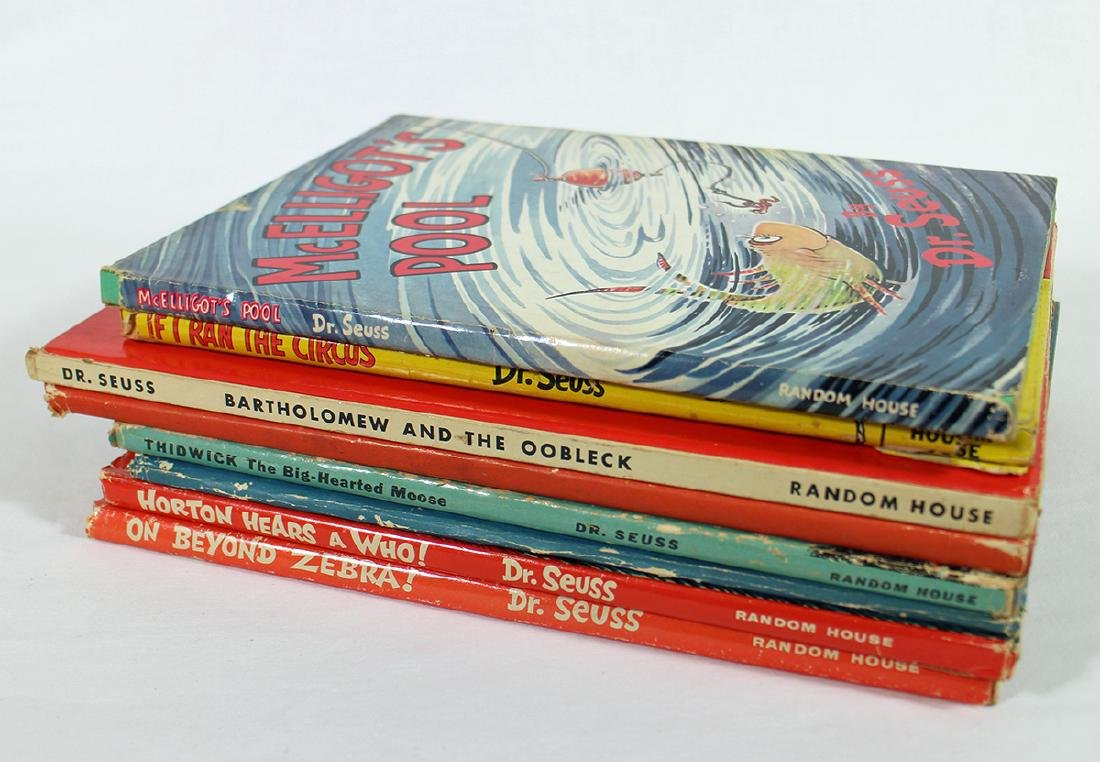 (8) DR. SEUSS BOOKS EARLY EDITIONS 1938 TO 1957