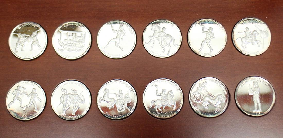 GREEK .999 SILVER OLYMPIC COINS