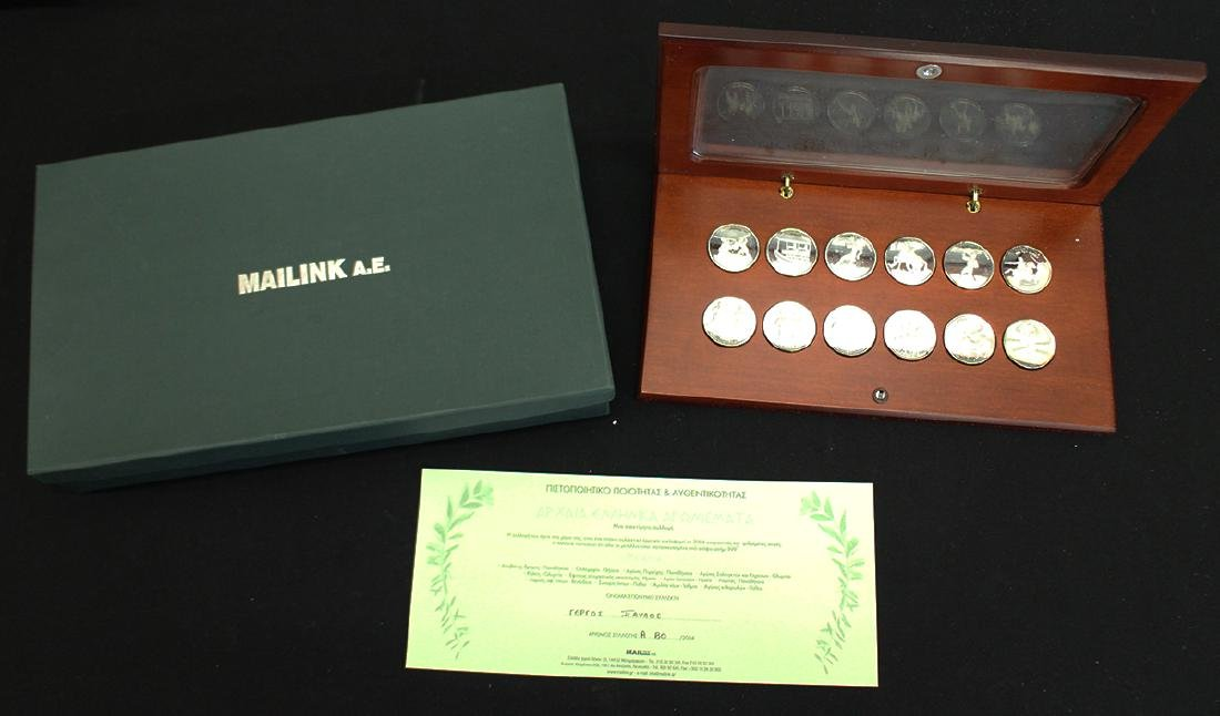 GREEK .999 SILVER OLYMPIC COINS - 2
