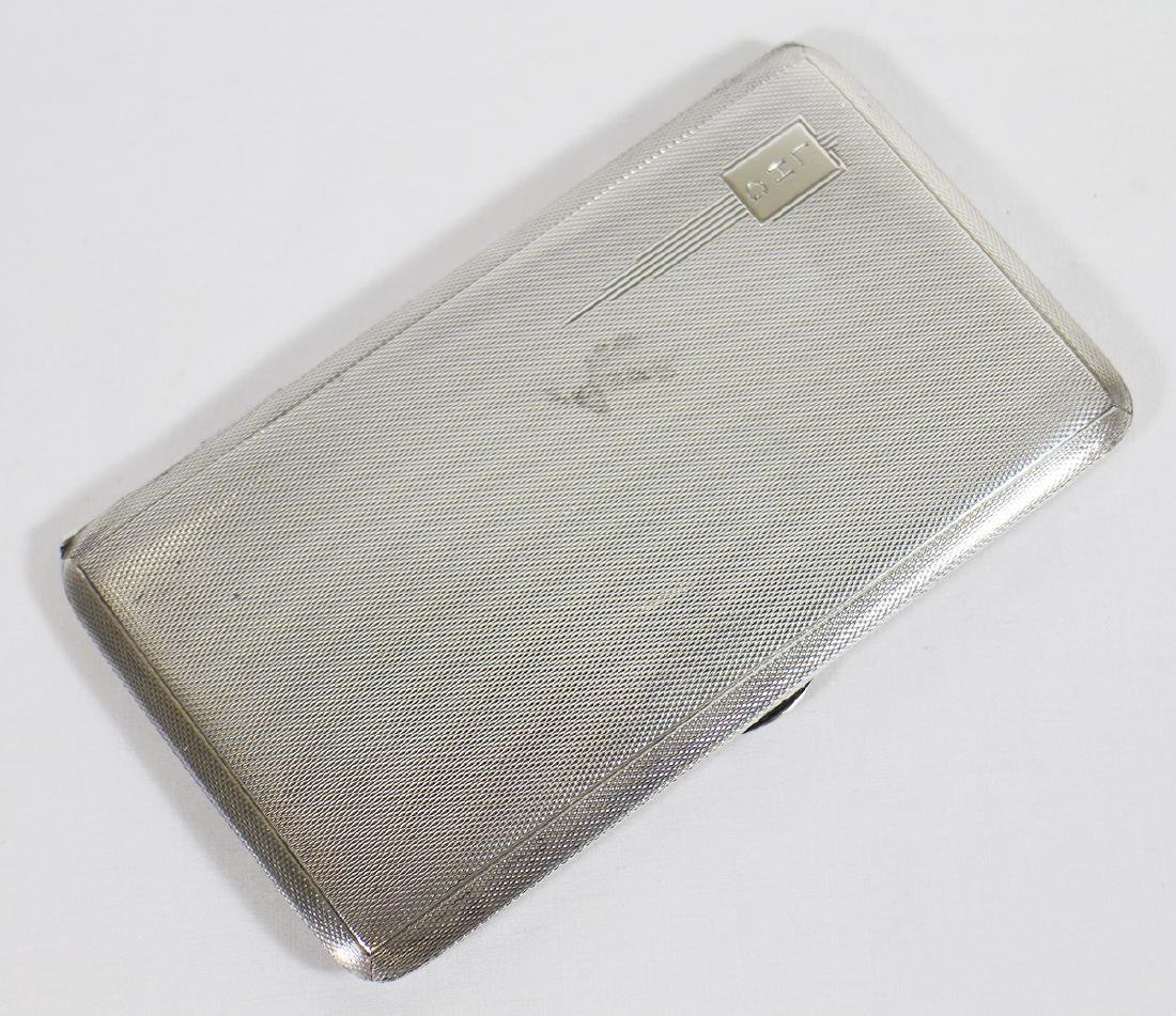 ART DECO STERLING CIGARETTE CASE