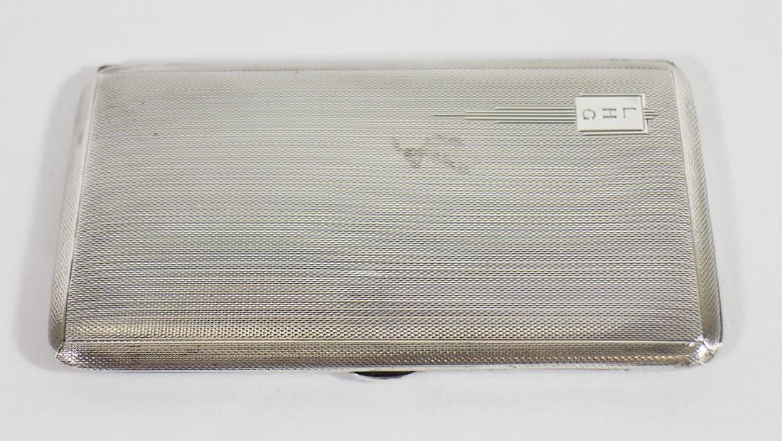 ART DECO STERLING CIGARETTE CASE - 3
