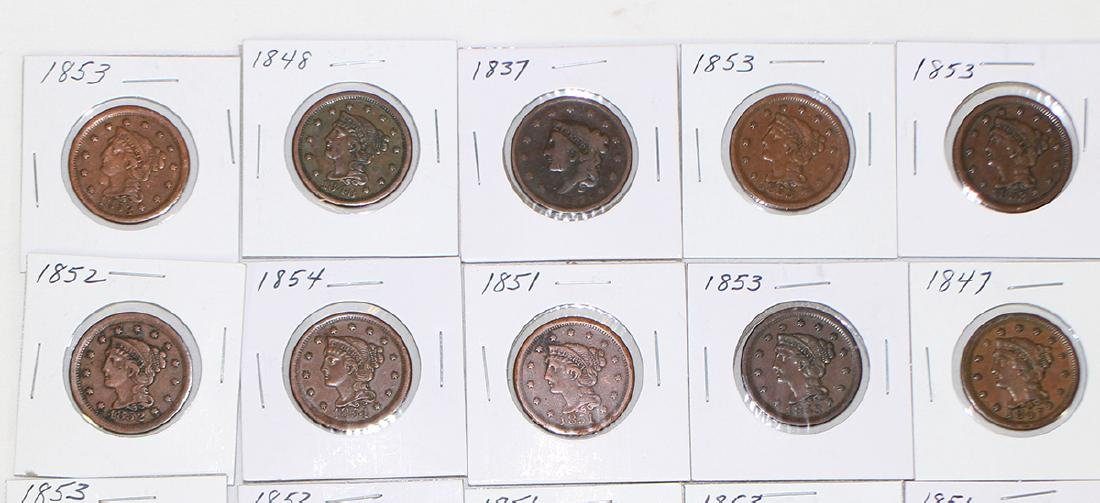 (20) LARGE ONE CENT COINS - 2