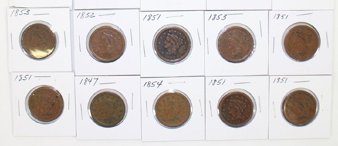(20) LARGE ONE CENT COINS - 3