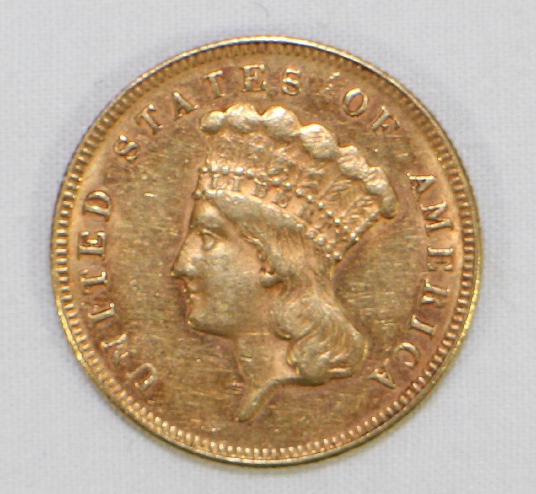 1874 $3 GOLD COIN
