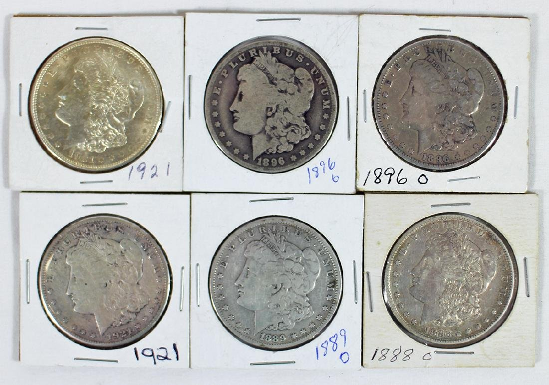 (6) MORGAN SILVER DOLLAR COINS