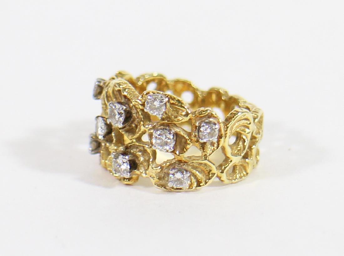 18K DIAMOND RING - 2