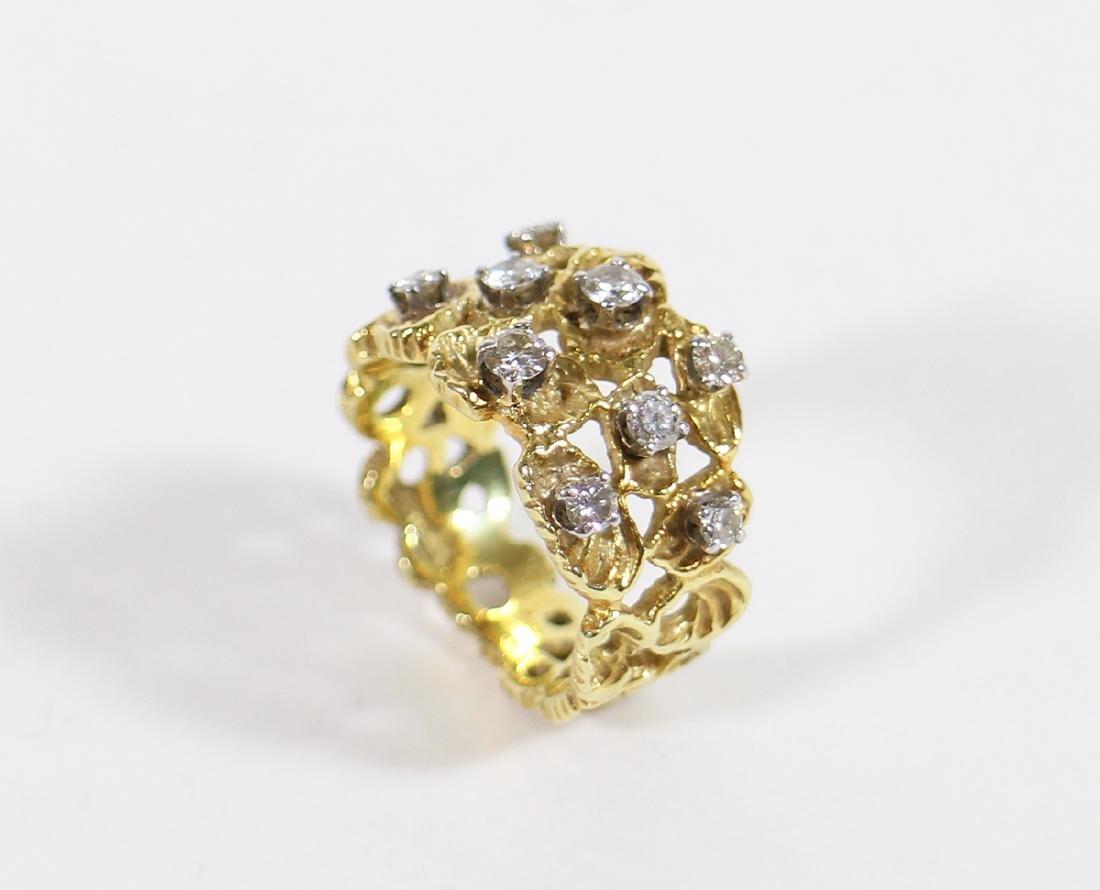 18K DIAMOND RING - 4