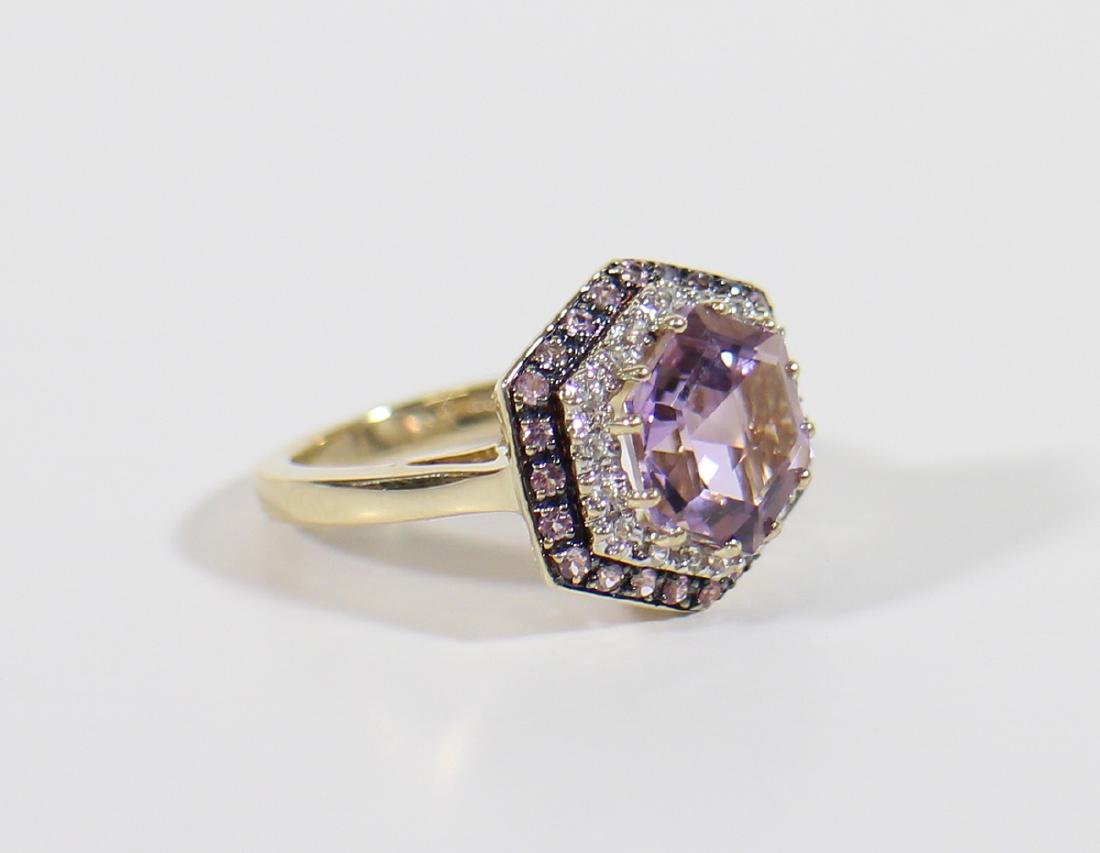 14K GOLD LEVIAN COTTON CANDY AMETHYST RING