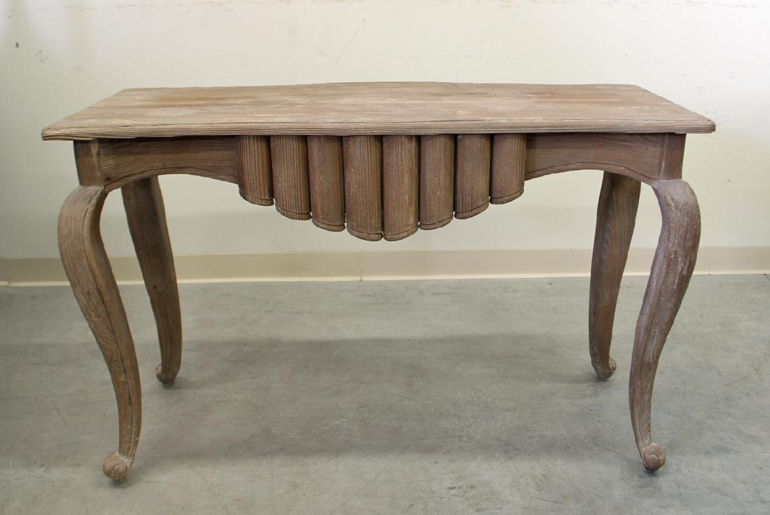WOOD CONSOLE TABLE