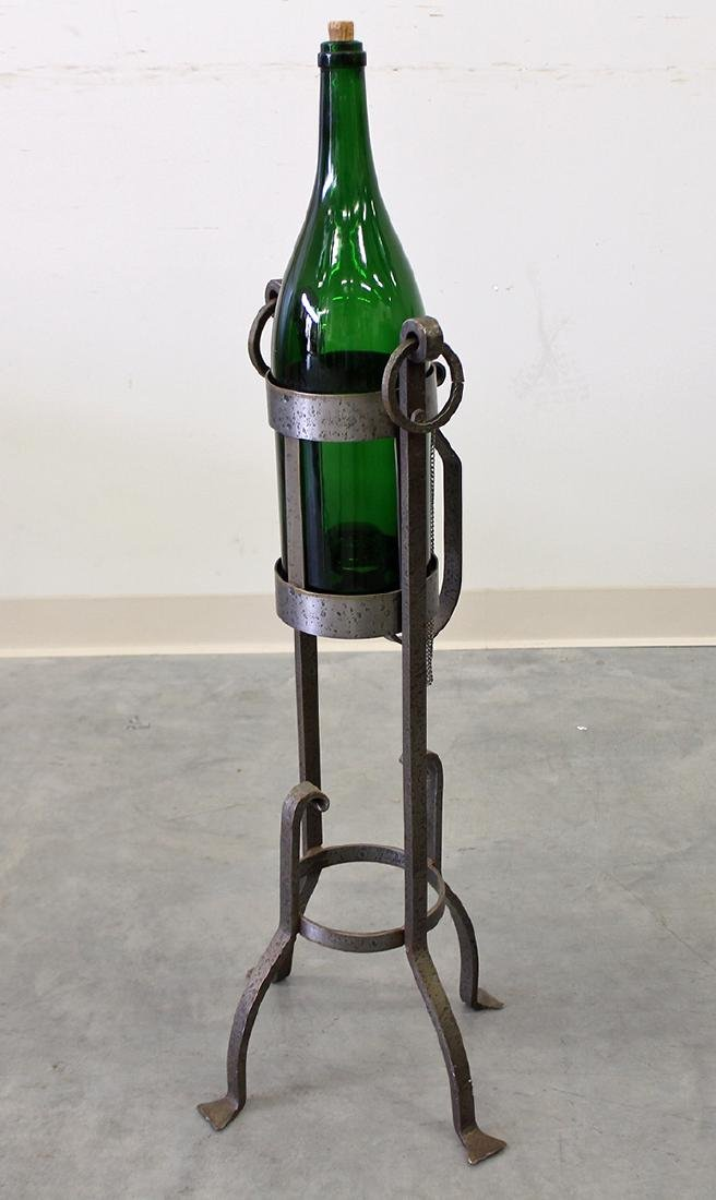 DECOR CHAMPAGNE BOTTLE ON STAND