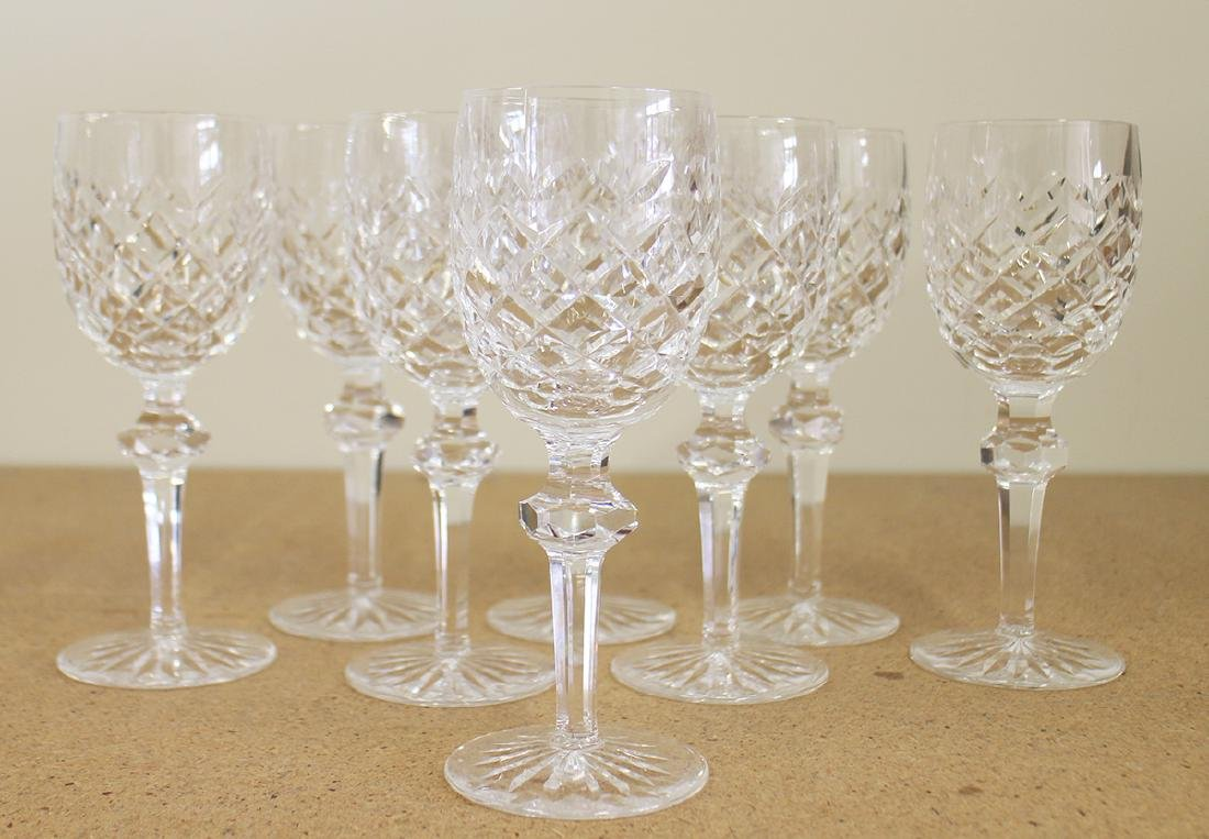 (8) WATERFORD CRYSTAL WINE GLASSES - POWERSCOURT