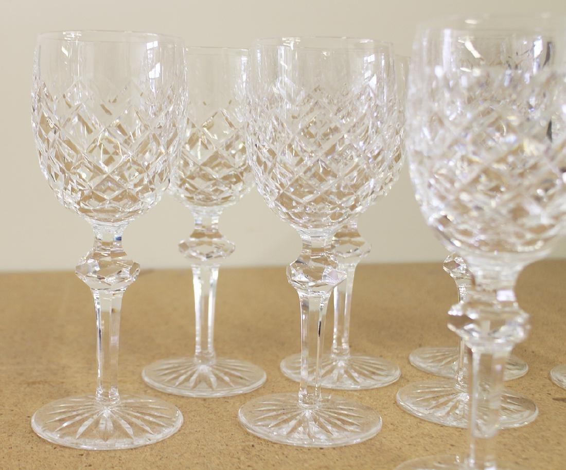 (8) WATERFORD CRYSTAL WINE GLASSES - POWERSCOURT - 2