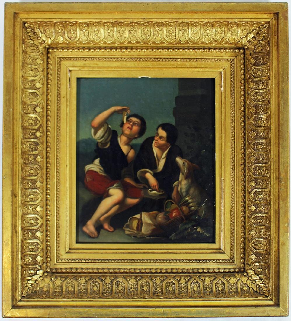 OLD MASTER STYLE PAINTING ON COPPER