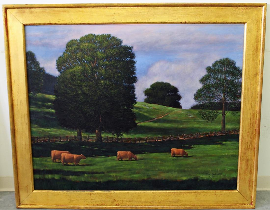 MICHAEL GARLAND GREENROCK FIELD PAINTING