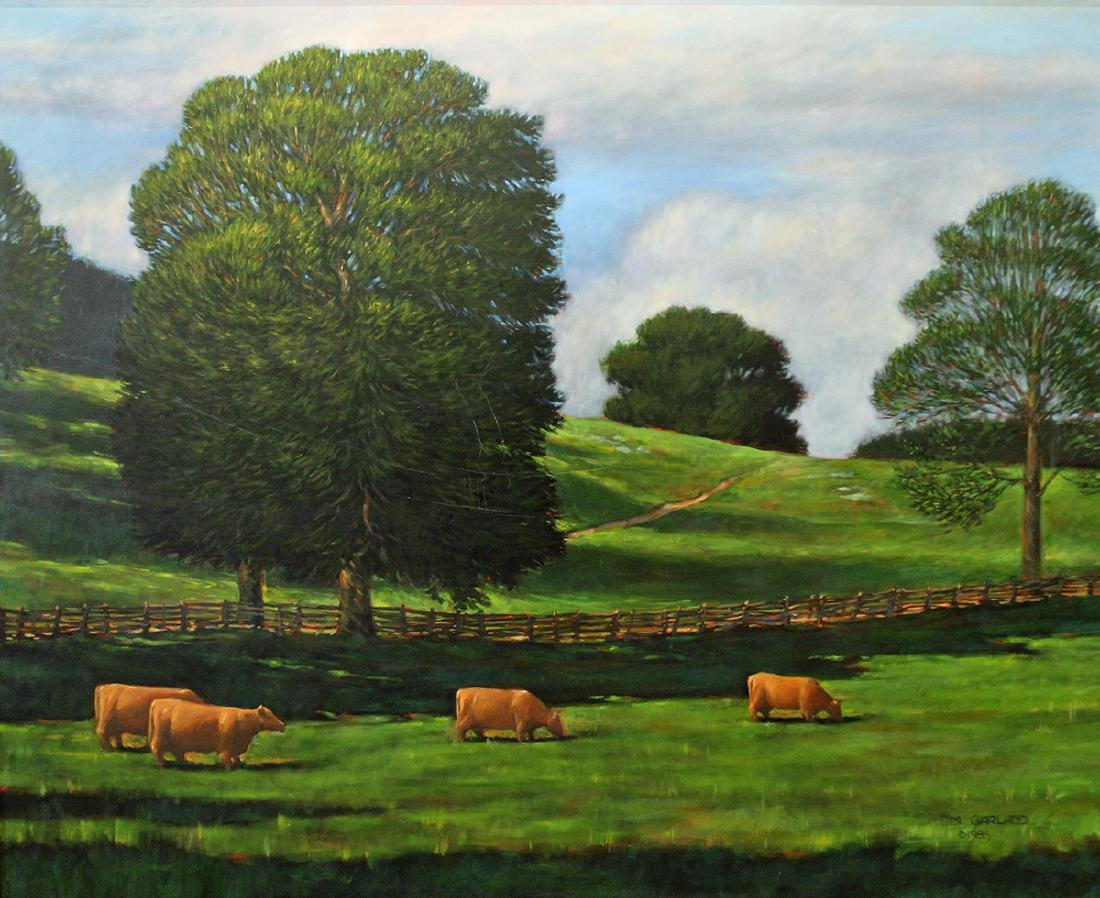 MICHAEL GARLAND GREENROCK FIELD PAINTING - 2