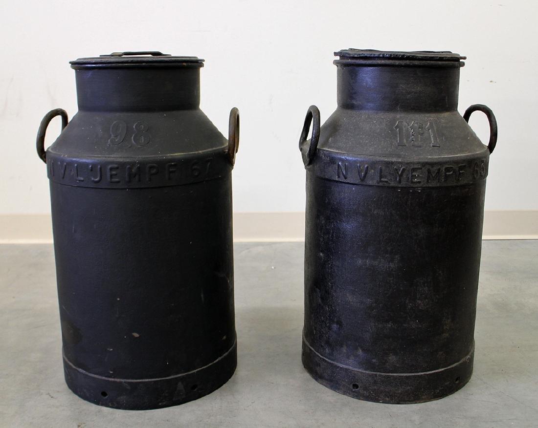 (2) DUTCH LARGE METAL MILK CANS