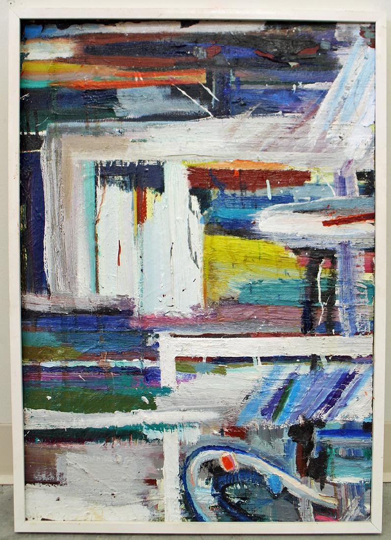 MID CENTURY ABSTRACT PAINTING