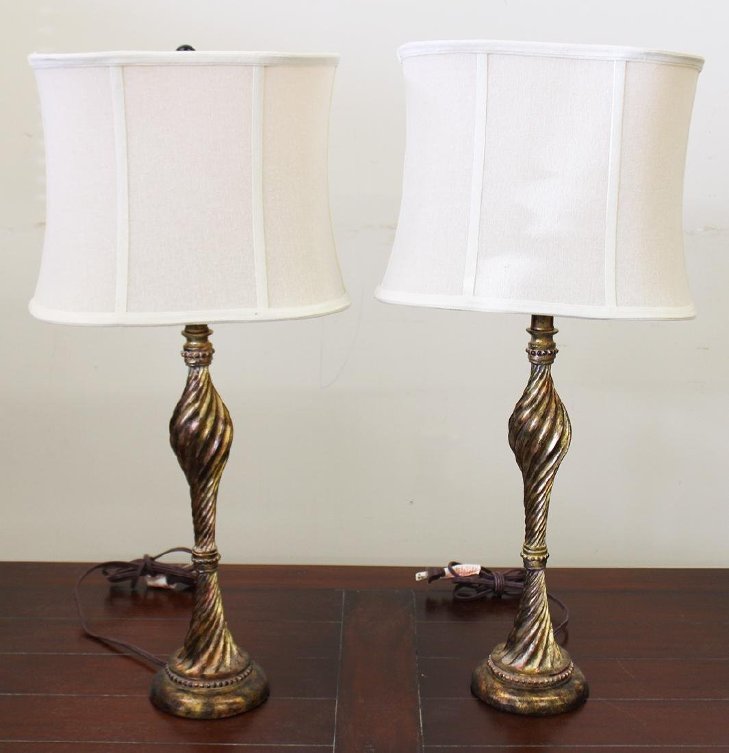 (2) TWIST STYLE TABLE LAMPS