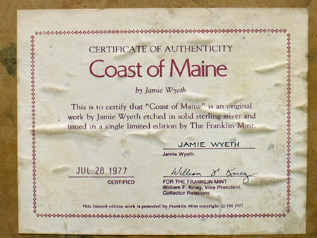 JAMIE WYETH STERLING COAST OF MAINE ART - 3