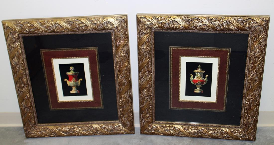 (2) FRAMED URN PRINTS