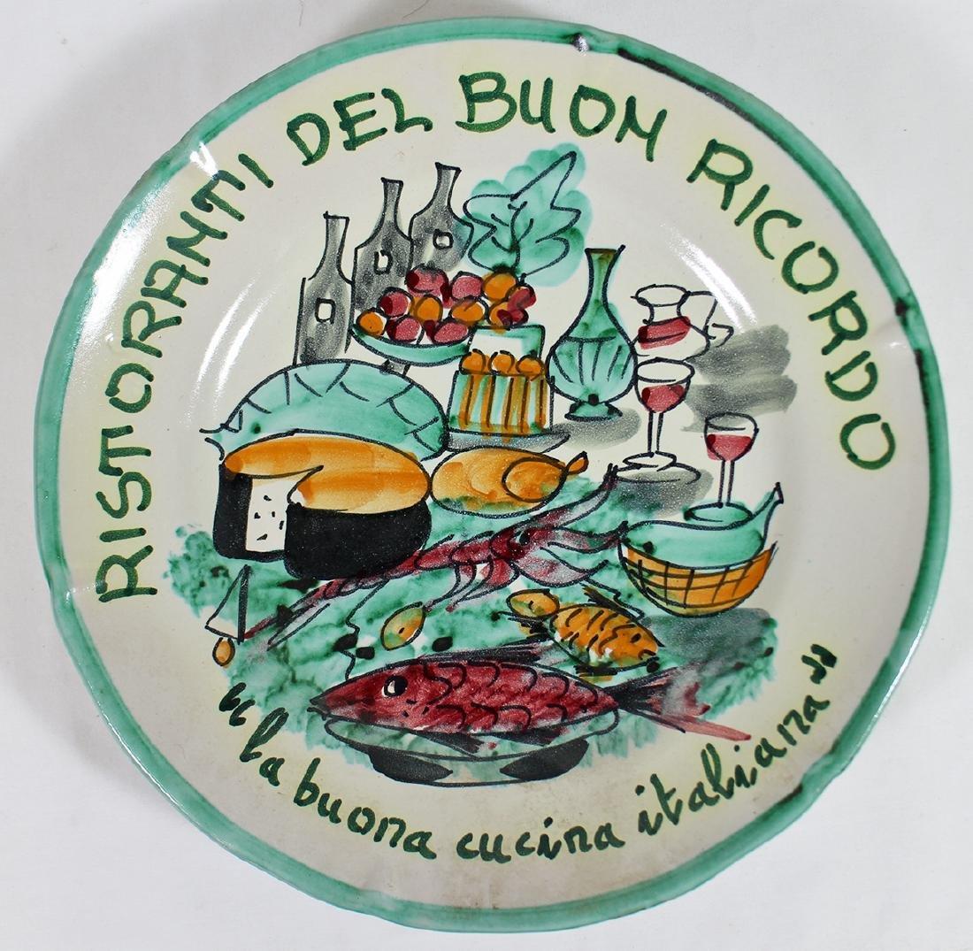ITALIAN POTTERY BUON RICORDO CUISINE PLATE