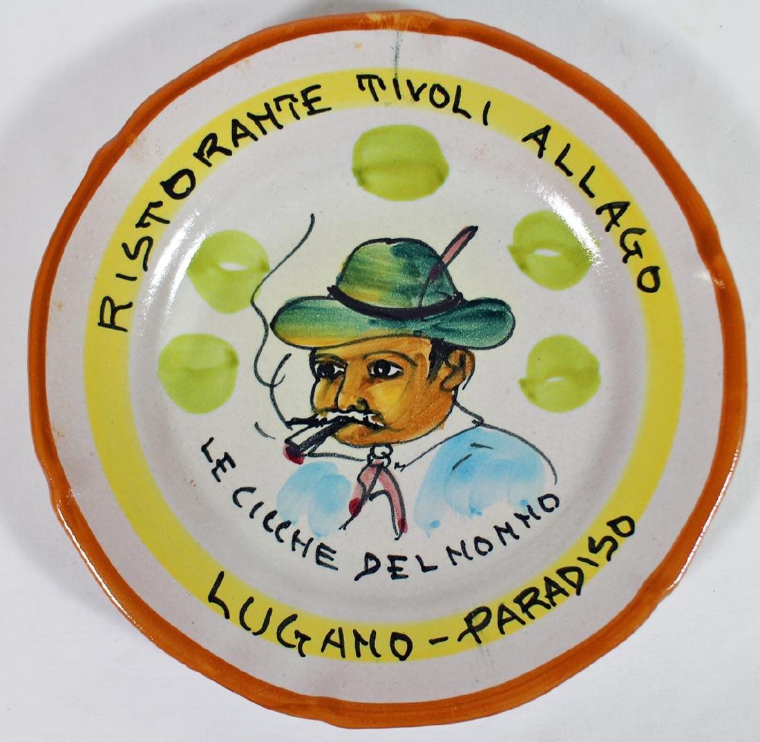 ITALIAN POTTERY BUON RICORDO PARADISO PLATE
