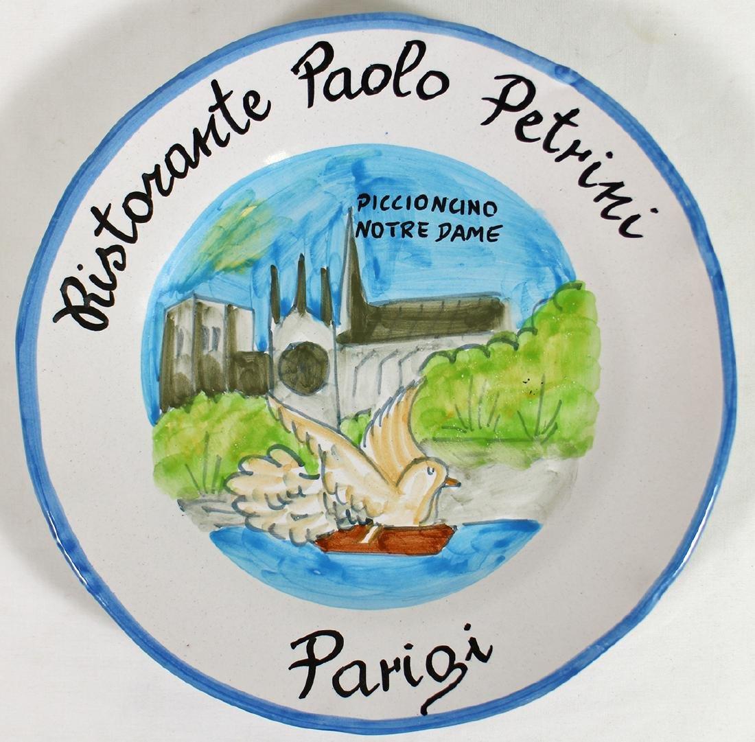 ITALIAN POTTERY BUON RICORDO PARIS PLATE