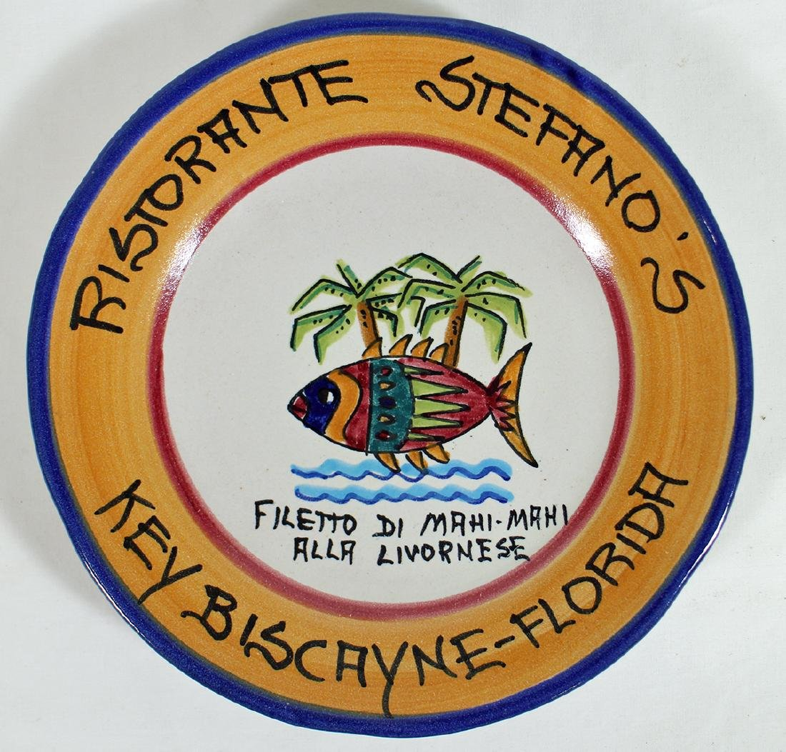 ITALIAN POTTERY BUON RICORDO KEY WEST PLATE