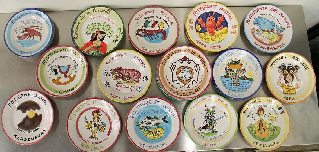 (21) ITALIAN POTTERY WORLD RESTAURANT PLATES