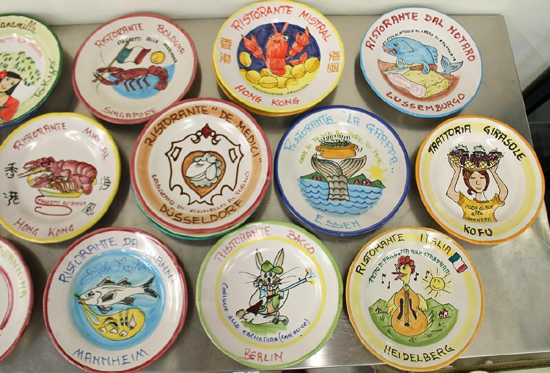 (21) ITALIAN POTTERY WORLD RESTAURANT PLATES - 2