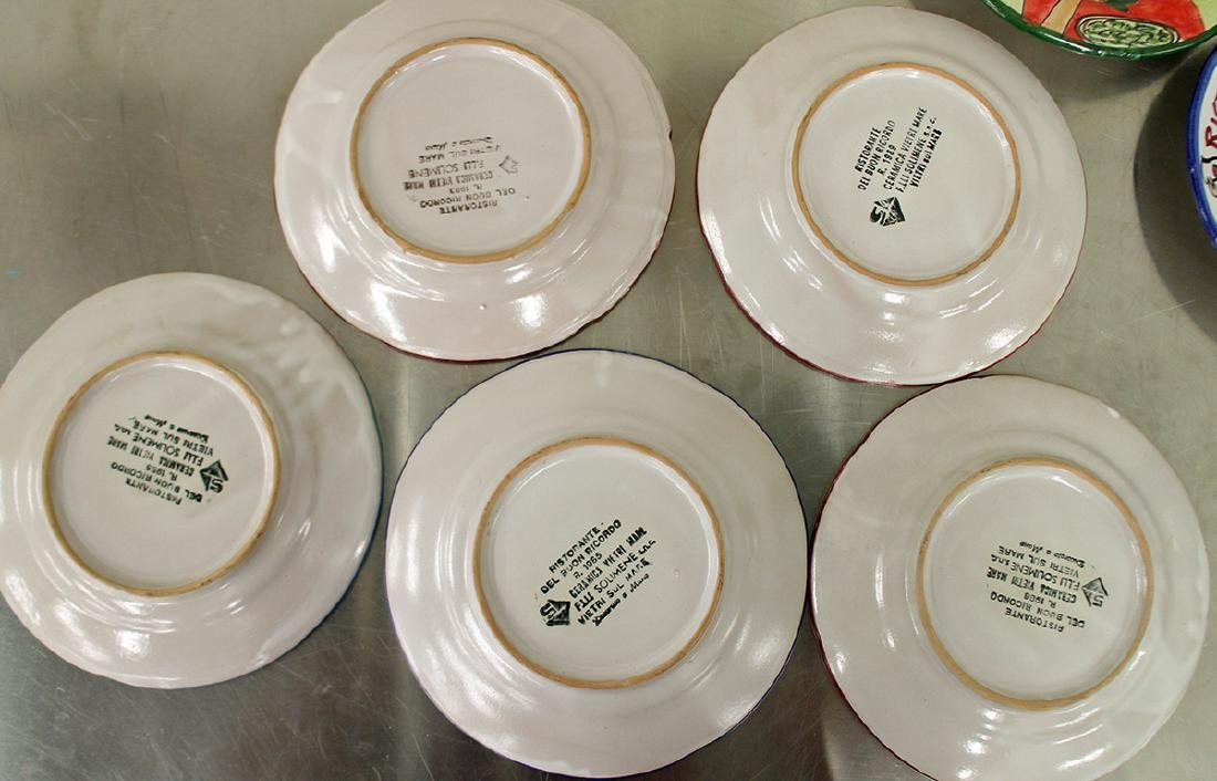 (21) ITALIAN POTTERY WORLD RESTAURANT PLATES - 5