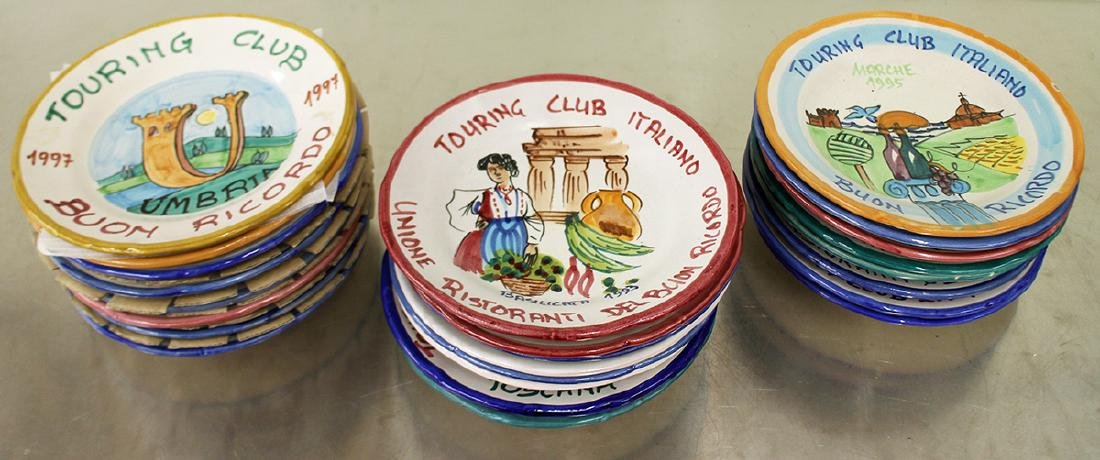 (24) HAND PAINTED ITALIAN TOURING CLUB PLATES