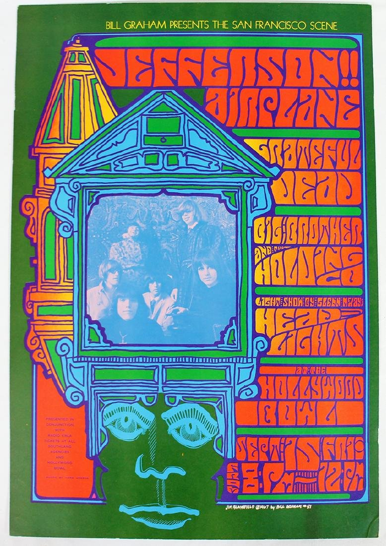 1967 GRATEFUL DEAD JEFFERSON AIRPLANE POSTER