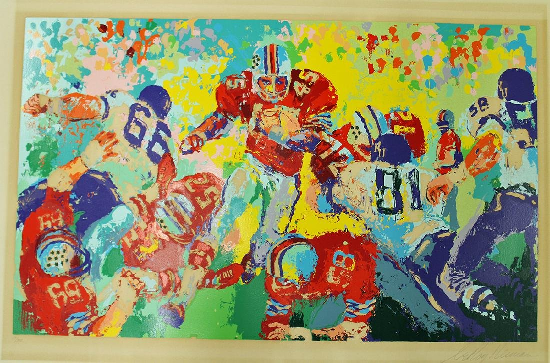 """LEROY NEIMAN OHIO STATE """"ARCHIE"""" LITHOGRAPH"""