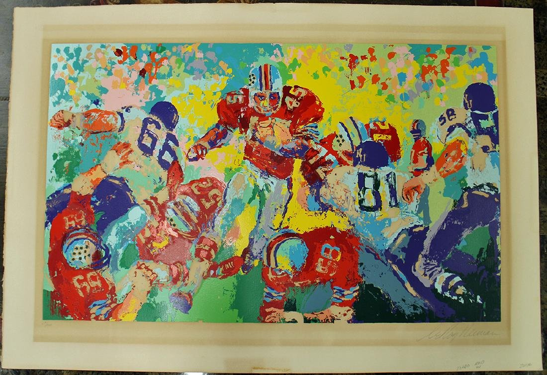 """LEROY NEIMAN OHIO STATE """"ARCHIE"""" LITHOGRAPH - 4"""