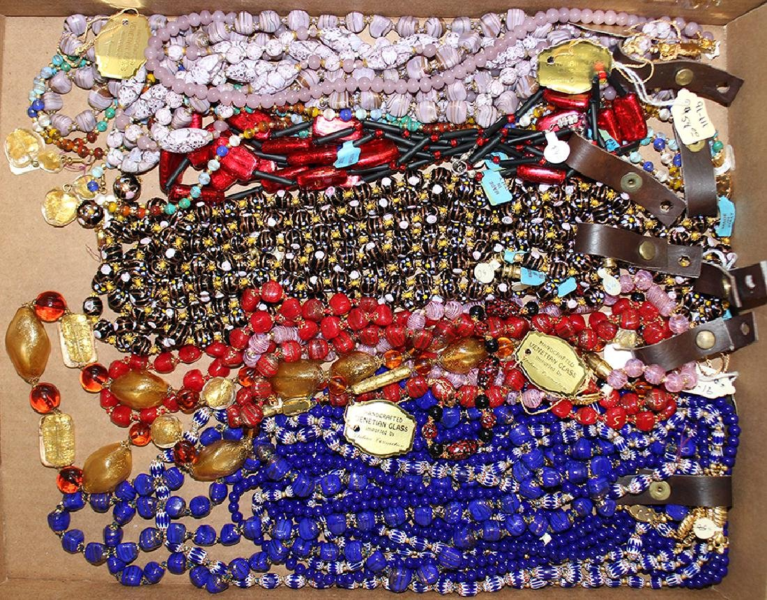 20+ ITALIAN VENETIAN GLASS NECKLACES - NEW