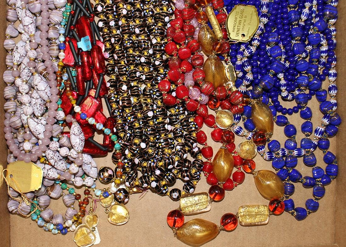 20+ ITALIAN VENETIAN GLASS NECKLACES - NEW - 3