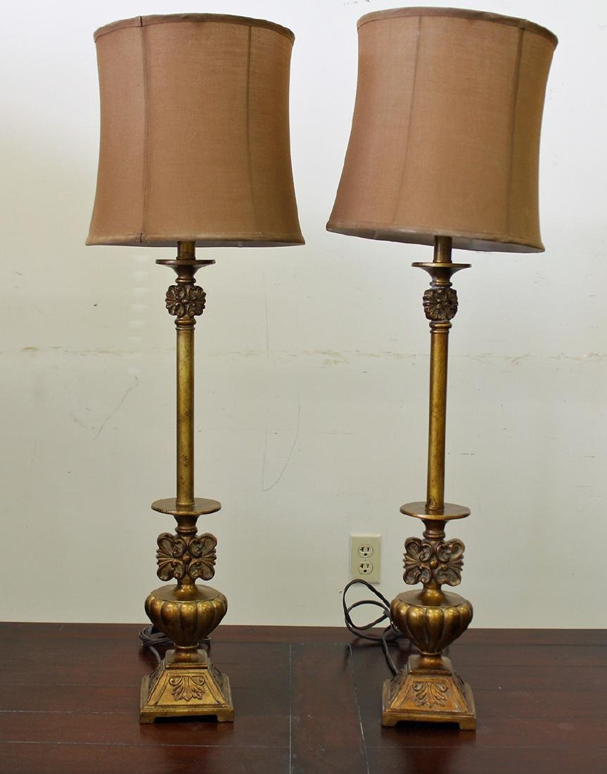 (2) GOLD TABLE LAMPS