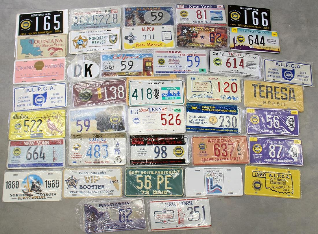 LICENSE PLATE COLLECTION