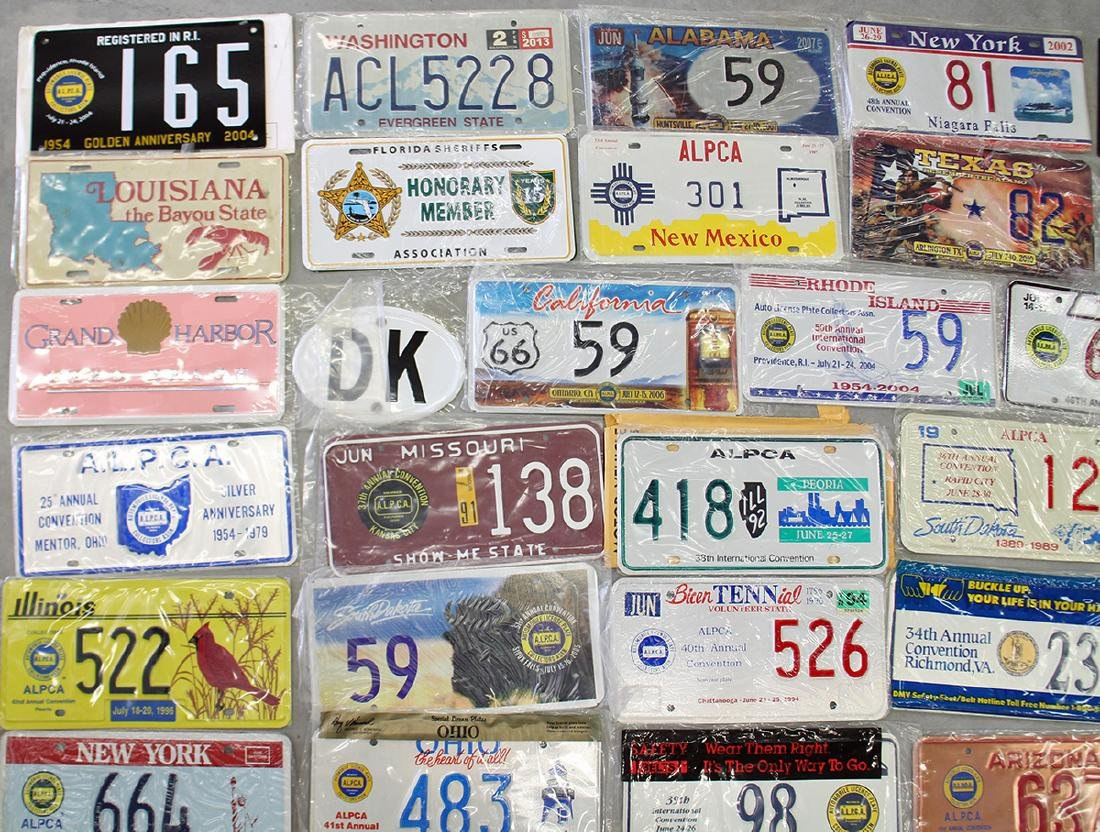 LICENSE PLATE COLLECTION - 2