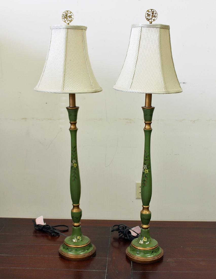 (2) TOLE STYLE LAMPS