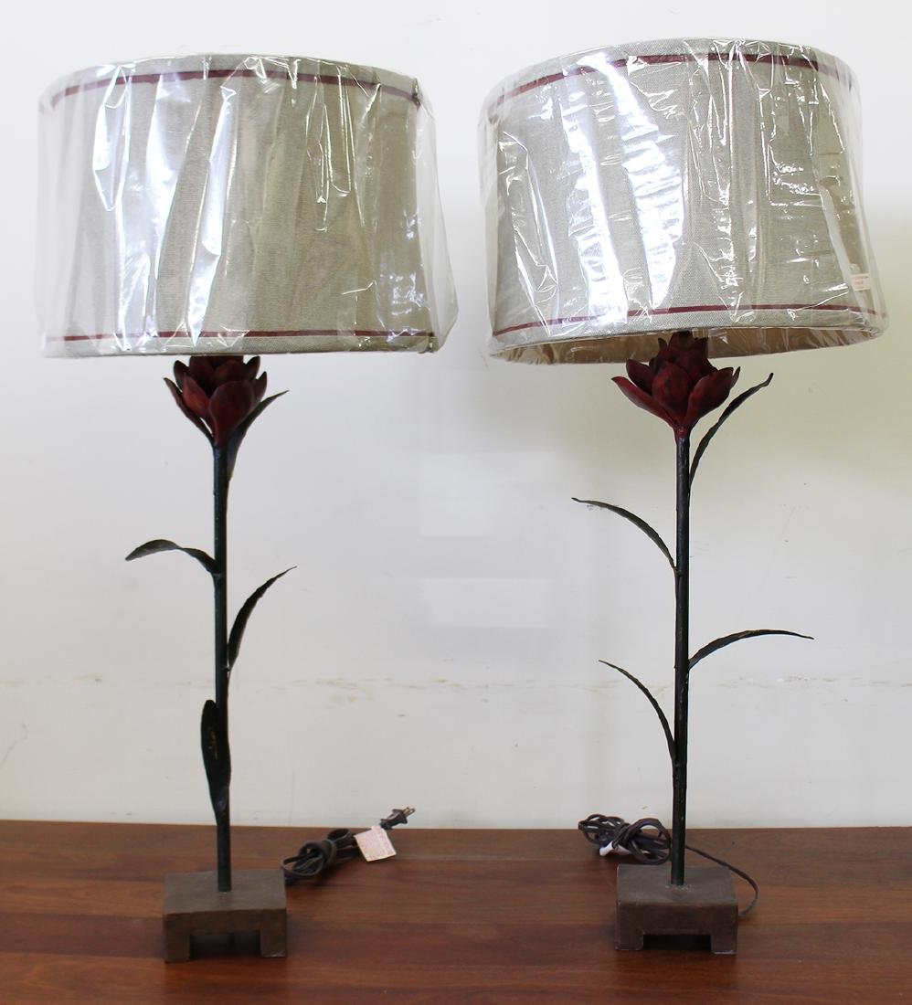 (2) FLOWER LAMPS