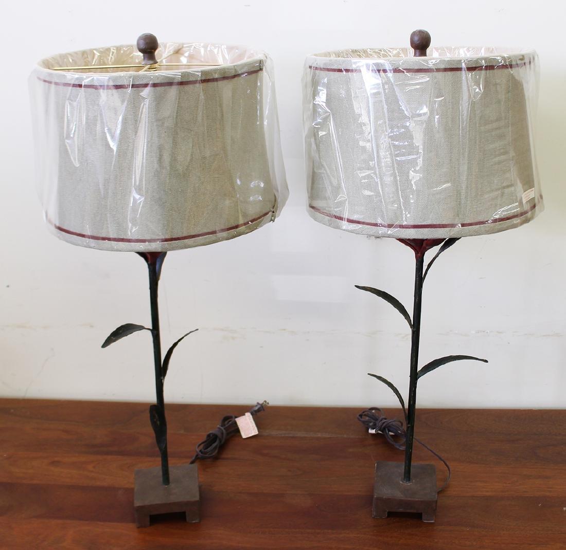 (2) FLOWER LAMPS - 2