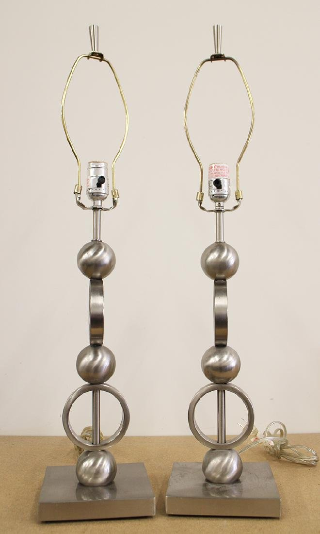 (2) MODERN LAMPS