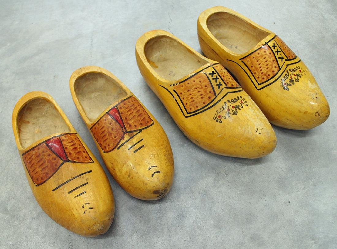 (2) PAIRS OF WOODEN DUTCH SHOES