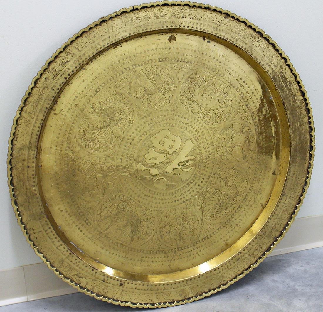 CHINESE BRASS CHARGER TABLE TOP