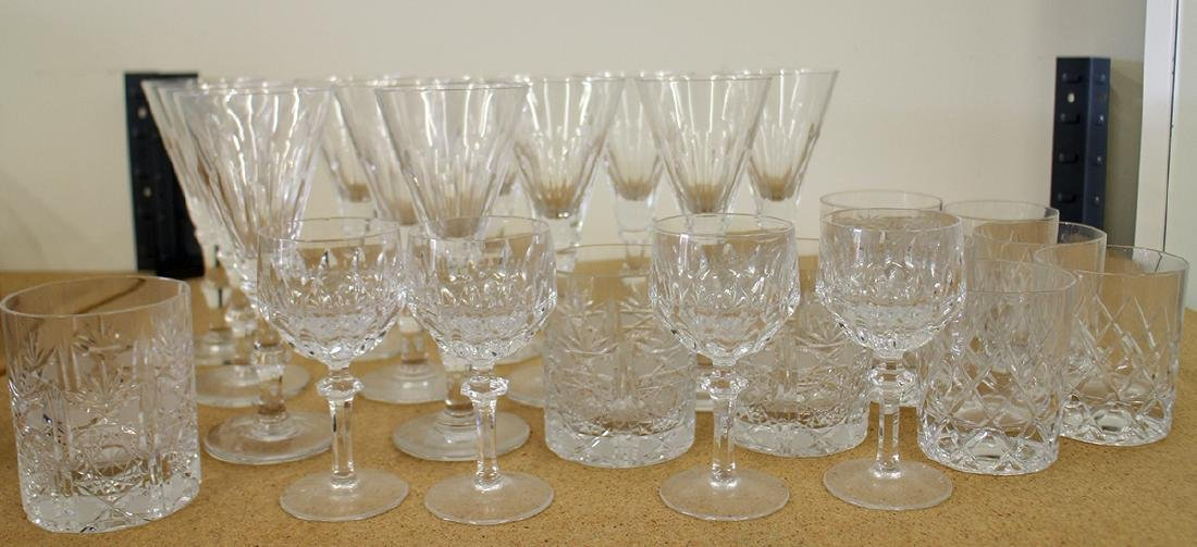 ASSORTED GLASS STEMWARE