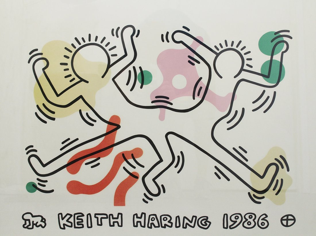 KEITH HARING FRENCH DANCERS LITHOGRAPH