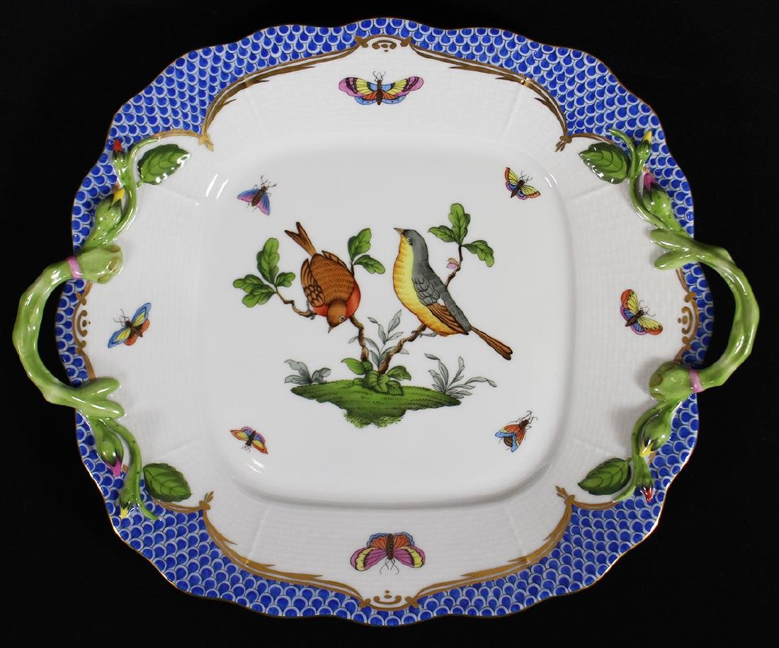 HEREND ROTHSCHILD CAKE PLATE